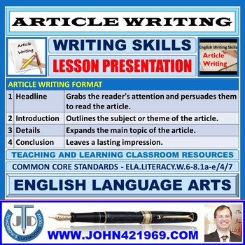 ARTICLE WRITING: PRESENTATION