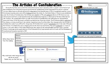 ARTICLES OF CONFEDERATION American Revolution