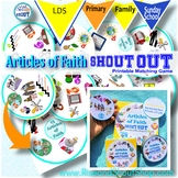 "ARTICLES of FAITH Shout Out Game; Spot the Match Game; 3"" & 5"" cards + gift box"
