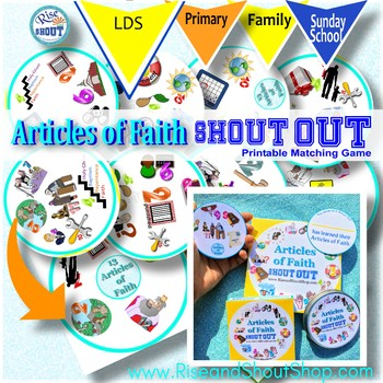 ARTICLES of FAITH Shout Out Game; Spot the Match Game; 3""