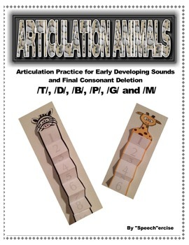 SPEECH ARTICULATION ANIMALS 4:EARLY DEVELOPING SOUNDS & FINAL CONSONANT DELETION
