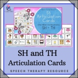 56 ARTICULATION CARDS (SH - TH sounds with Visual Cues) Speech Therapy