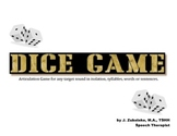SPEECH THERAPY ARTICULATION DICE GAME