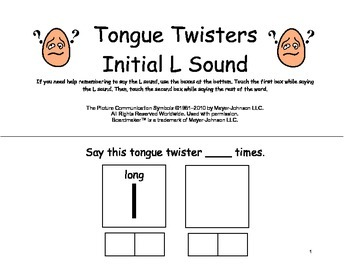 ARTICULATION Initial L SOUND Interactive BOOK, Speech Therapy