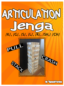 ARTICULATION with JENGA for /K/,/G/,/S/,/L/,/R/,/SH/ and /CH/- Speech Therapy