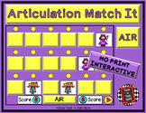 ARTICULATION MATCH IT - PRE-VOCALIC AND VOCALIC R