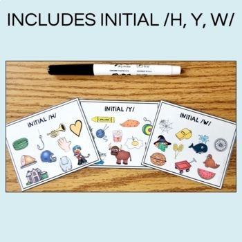 ARTICULATION MINI CARDS - EARLY SOUNDS - FOR SPEECH THERAPY