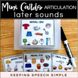 ARTICULATION MINI CARDS -  FOR SPEECH THERAPY