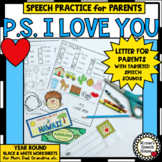 END of YEAR PARENT SPEECH SOUND LETTERS ARTICULATION SPEECH THERAPY