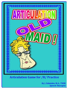 "SPEECH THERAPY ARTICULATION OLD MAID-  Articulation Practice for the ""R"" Sound"
