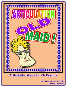 """SPEECH THERAPY ARTICULATION OLD MAID-  Articulation Practice for the """"S"""" Sound"""