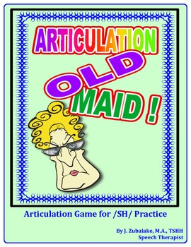 "SPEECH THERAPY ARTICULATION OLD MAID-  Articulation Practice for the ""SH"" Sound"