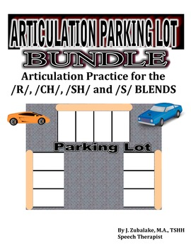 SPEECH THERAPY ARTICULATION PARKING LOT BUNDLE for /R/,/SH