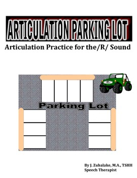 SPEECH THERAPY ARTICULATION PARKING LOT for /R/ SOUND PRACTICE