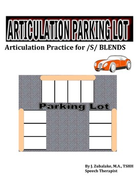 SPEECH THERAPY ARTICULATION PARKING LOT for /S/ BLEND PRACTICE