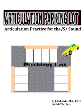 SPEECH THERAPY ARTICULATION PARKING LOT for /S/ SOUND PRACTICE