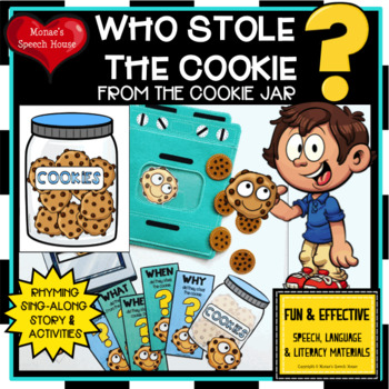 WHO STOLE THE COOKIE sing-along Literacy Circle Early Reader Feeding Mouth JAR