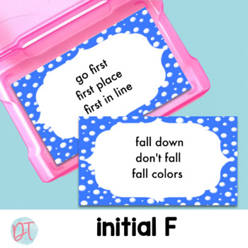 ARTICULATION: PHRASE CARDS for F and L