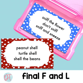 ARTICULATION PHRASE CARDS for F and L