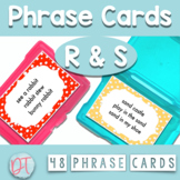 ARTICULATION PHRASE CARDS for R and S Stimulus Materials