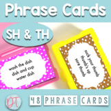 ARTICULATION PHRASE CARDS for SH and TH Stimulus Materials