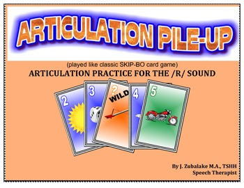 SPEECH THERAPY ARTICULATION PILE-UP for /R/: (classic SKIP-BO like Card game)