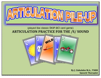 SPEECH THERAPY ARTICULATION PILE-UP for /S/: (classic SKIP-BO like Card game)