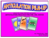 SPEECH THERAPY ARTICULATION PILE-UP for /SH/: (classic SKIP-BO like Card gam
