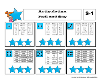 ARTICULATION- ROLL AND SAY