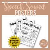 ARTICULATION SOUND POSTERS | WORD LISTS | TEACHERS, PARENT