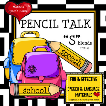 ARTICULATION SPEECH THERAPY /s/ blends worksheets