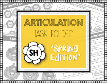 "ARTICULATION TASK FOLDER ""SH"" with Homework Sheets"