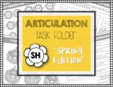 """ARTICULATION TASK FOLDER """"SH"""" with Homework Sheets"""