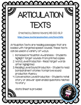 ARTICULATION TEXTS