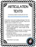 ARTICULATION TEXTS
