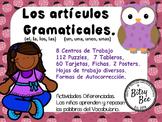 ARTÍCULOS GRAMATICALES EN ESPAÑOL. (EL, LA, LOS, LAS, UN, UNA, UNOS, UNAS)