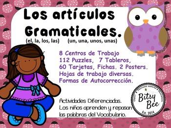 ARTÍCULOS GRAMATICALES EN ESPAÑOL. (EL, LA, LOS, LAS, UN,