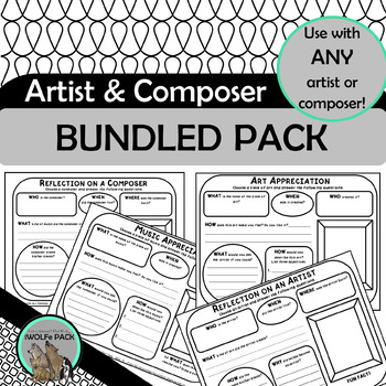ARTIST & COMPOSER BUNDLED PACK simple exercises for any ART & MUSIC