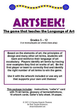 ARTSEEK! The Language of Art Game
