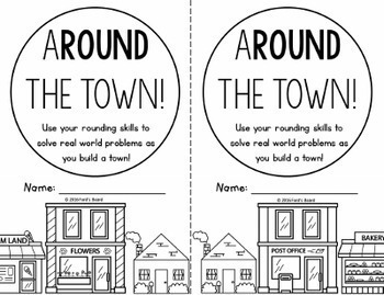 ARound the Town - A Craftivity for Rounding to the Nearest 10, 100, and 1,000