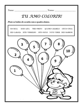 AS CORES: THE COLORS IN PORTUGUESE ACTIVITIES (1ST TO 5TH)