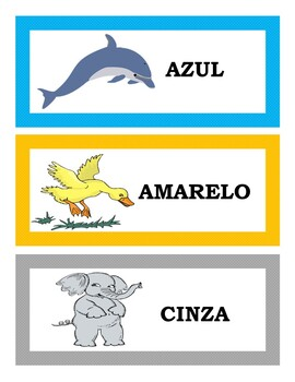 AS CORES: THE COLORS IN PORTUGUESE BINGO, WORD WALL, AND POSTERS (1ST TO 5TH)