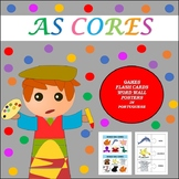 AS CORES: THE COLORS IN PORTUGUESE GAMES, WORD WALL, AND POSTERS (1ST TO 5TH)