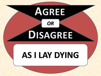 AS I LAY DYING - Agree or Disagree Pre-reading Activity