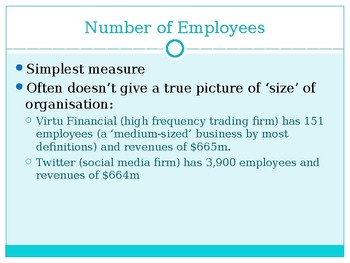 AS Level PPTs Business Studies, Size of Business (12 slides) suitable for GCSE