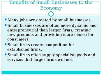 AS Level PPTs Business Studies, Small Businesses Growth (Business Environment)