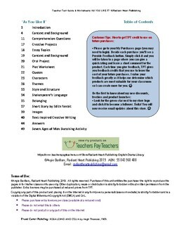AS YOU LIKE IT - TEACHER TEXT GUIDES AND WORKSHEETS SHAKESPEARE