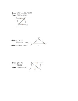 ASA & AAS proof puzzle
