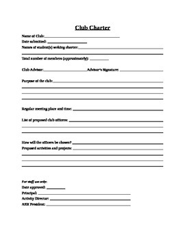 ASB - Club Charter Form (Editable)