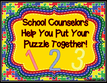 ASCA Counseling Domains Printable {Puzzle Theme}